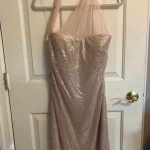 Dresses & Skirts - Champagne sequin evening gown by Sholokhov, sz 10